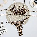 Принтованный купальник с вырезом на груди и высокими плавками бразилианы (р. S - L) 6825935, фото 10