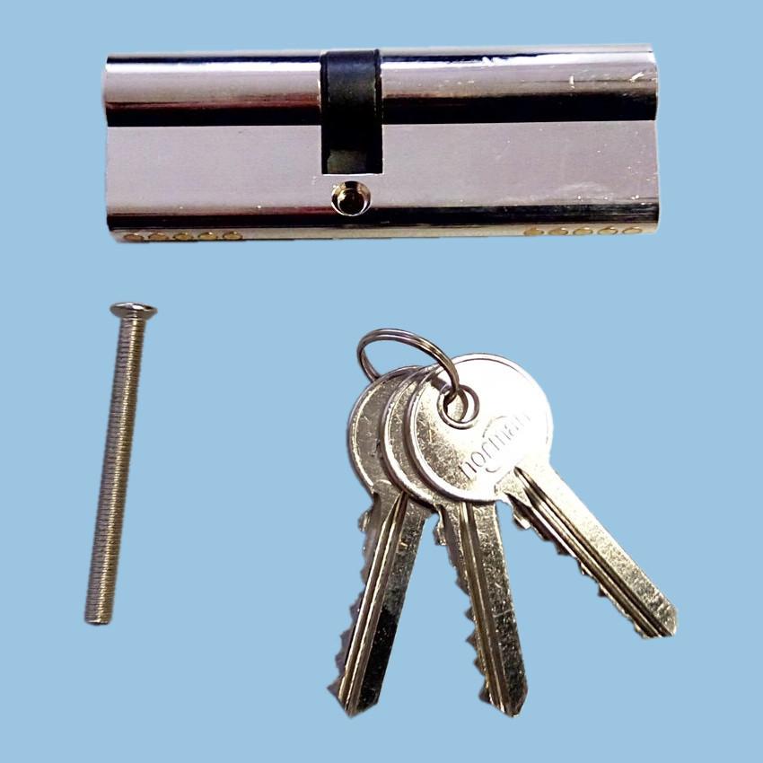 Циліндр замка Norman  83мм (43х40) латунь, 3 ключа, хром