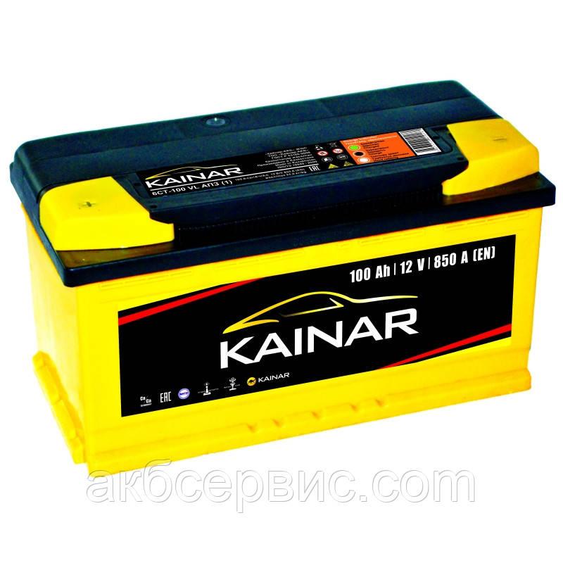 Акумулятор автомобільний Kainar 6СТ-100 Аз Standart+