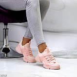Кроссовки женские розовые- пудра текстиль + резина/ силикон, фото 6