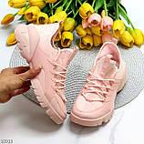 Кроссовки женские розовые- пудра текстиль + резина/ силикон, фото 10