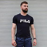 Мужская футболка Fila тёмно-синяя, фото 1