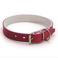 Ошейник для собак кожаный двойной ОД Краски 1,2/20-25 розовый, фото 1