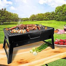 Раскладной мангал чемодан складной барбекю гриль BBQ Grill Portable, Переносной портативный барбекю с решеткой