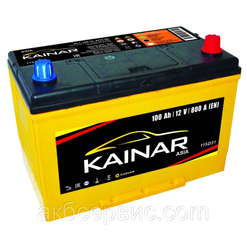 Акумулятор автомобільний Kainar 6СТ-100 АзЕ Asia