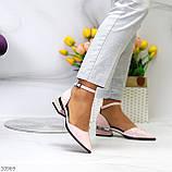 Туфли женские розовые с ремешком эко-лак на маленьком каблуке 4 см, фото 5