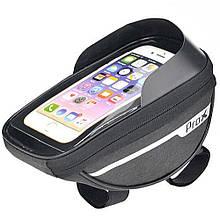 """Велосумка на раму Prox Nebraska 295 для смартфона 6,4"""", черный (A-SP-0240)"""