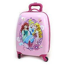"""Детский пластиковый чемодан  """"Принцессы"""""""