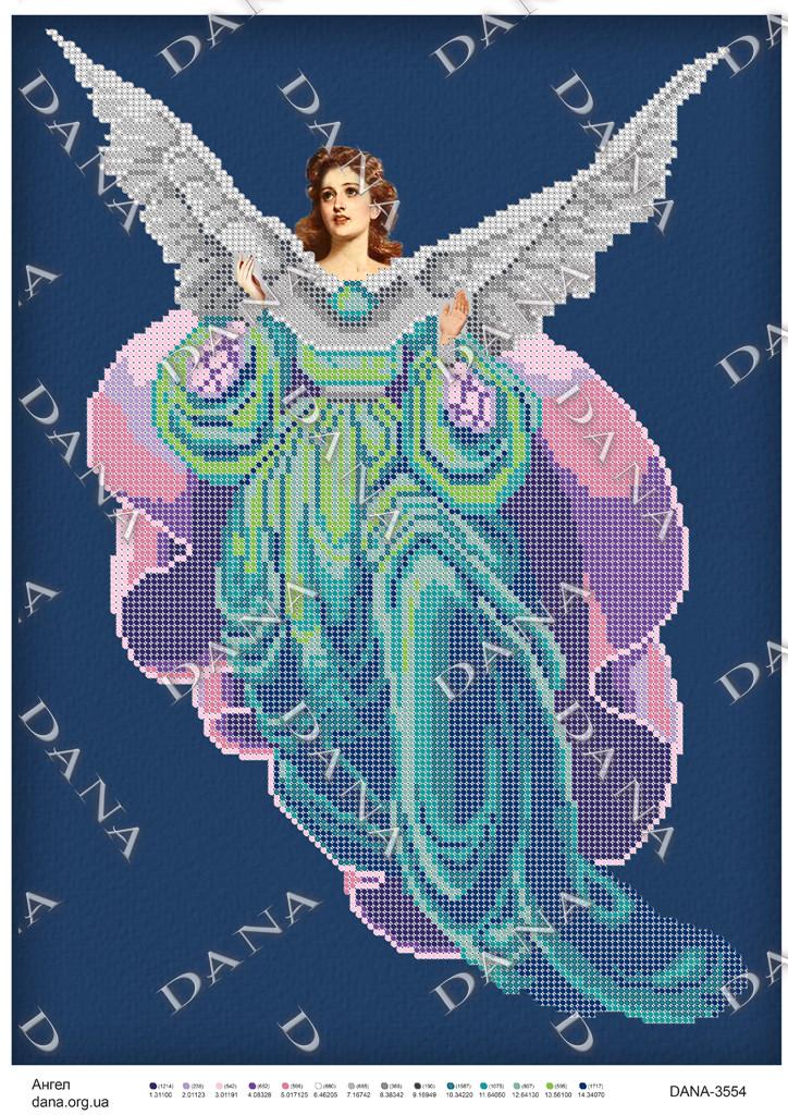 Схема под бисер Ангел