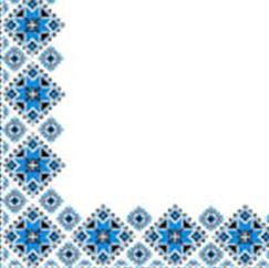 Серветка Марго 33*33 2сл. Вишиванка синя 50шт/уп