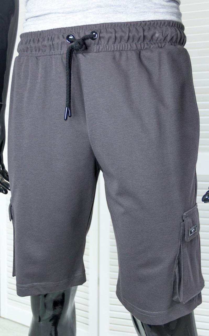 Шорты мужские трикотажные Escetic Темно-серые на шнуровке