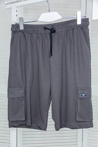 Шорты мужские трикотажные Escetic Темно-серые на шнуровке, фото 2