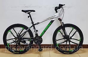 Велосипед Спортивный 26 дюймов Spider CORSO Зеленый литые диски, рама алюминиевая, Shimano, 21 скорость