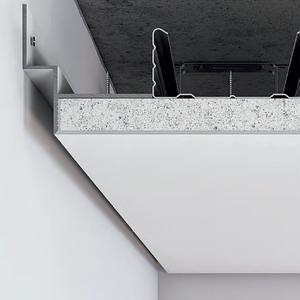 Алюминиевый профиль теневого шва (усиленный) 12 мм для парящего потолка с подсветкой