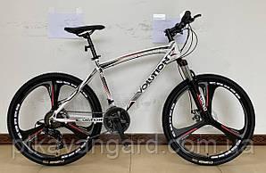 Велосипед Спортивный на литых дисках 26 дюймов Evolution CORSO Белый, рама алюминиевая, Shimano, 21 скорость