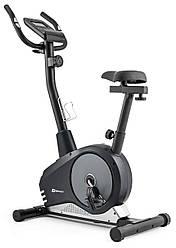Велотренажер магнитный вертикальный Hop-Sport HS-2080 Spark black/silver для дома и спортзала нагрузка 120 кг