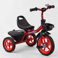 Велосипед детский трехколесный, Красный, колеса резиновые, сиденье отодвигается, 2 корзины, Best Trike BS-1788