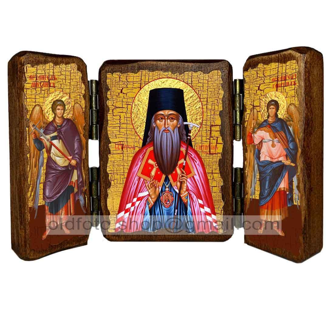 Икона Питирим, епископ Тамбовский Святитель ,икона на дереве 260х170 мм