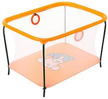 Манеж Qvatro LUX-02 мелкая сетка  оранжевый (dog)