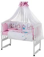 Дитяча постіль Babyroom Bortiki Print-08 pink owl