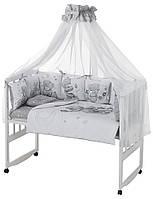 Дитяча постіль Babyroom Bortiki Print-08 grey teddy
