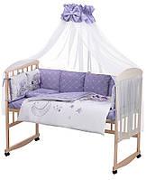 Дитяча постіль Babyroom Bortiki Print-08 purple teddy