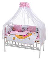 Дитяча постіль Babyroom Bortiki Print-08 pink teddy