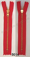 Змейка YKK джинсовая 14 см красная 5014