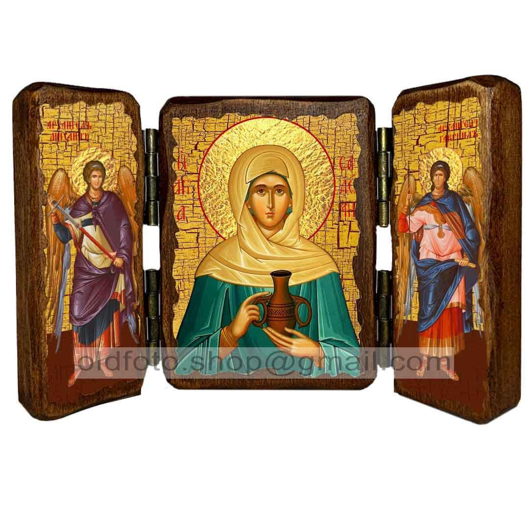 Ікона Соломія Свята мироносиця ,ікона на дереві 130х170 мм