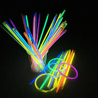 Светящиеся палочки, неоновые палочки, в тубе 15 штук, фото 1