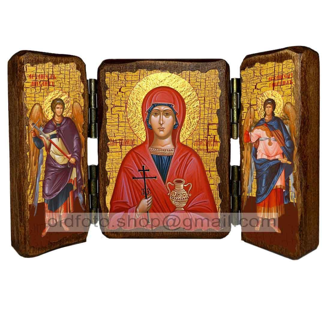 Ікона Великомучениця Анастасія Узорешітельніца ,ікона на дереві 130х170 мм