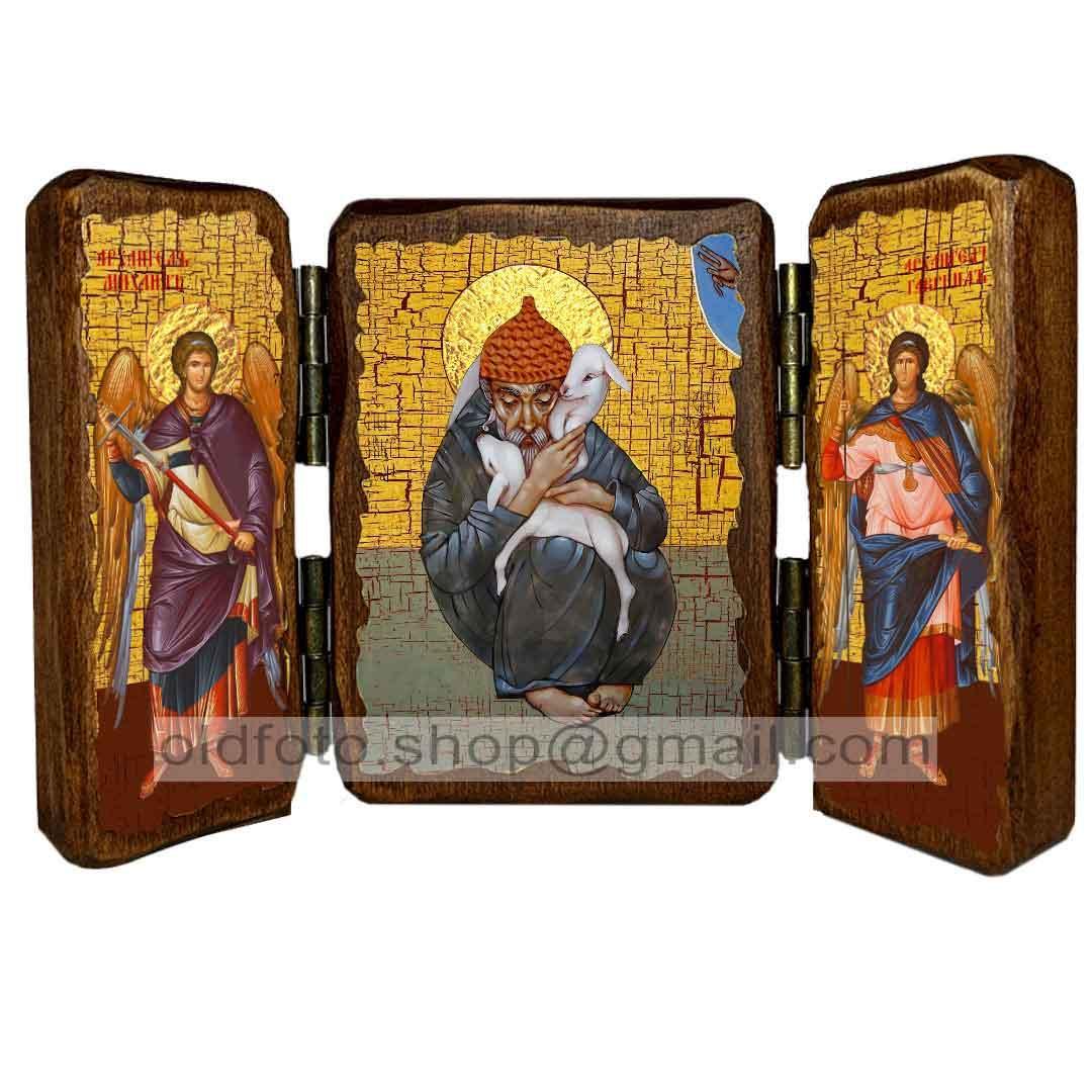 Ікона Спиридон Триміфунтський з овечкою Святитель ,ікона на дереві 130х170 мм