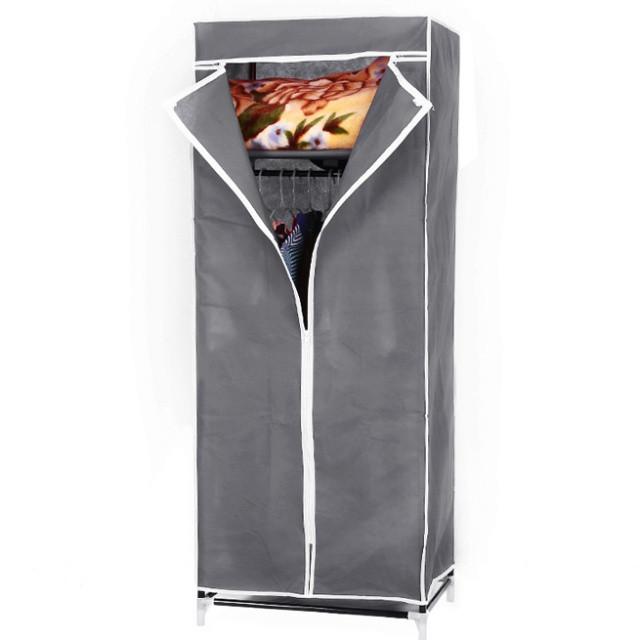 Шкаф тканевый 8865 90/45/160 (Серый, кофейный, бордо)