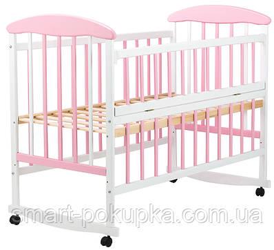 Ліжко Наталка ОБРО відкидний пліч вільха біло-рожева