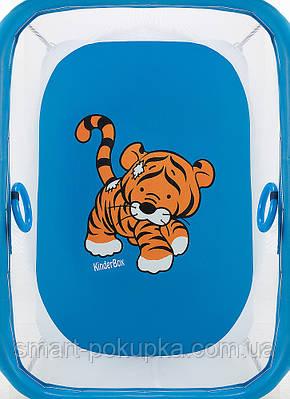 Манеж Qvatro LUX-02 дрібна сітка синій (tiger)