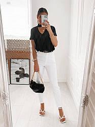 Жіночі джинси з завішеній талією і з шлевкамі на поясі
