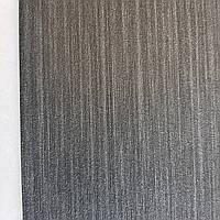 Обои метровые виниловые на флизелине дизайнерские Erismann Elle однотонные тонкая полоска под ткань черные, фото 1