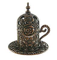 Турецкая чашка для кофе 60 мл, цвет: бронза