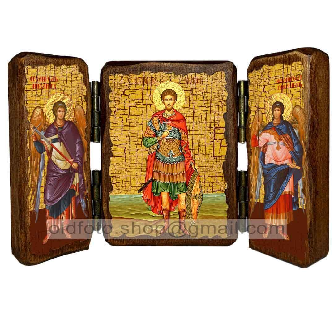 Ікона Євген Севастійський ,ікона на дереві 130х170 мм