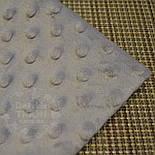 Лоскут плюша minky М-19 светло-серого цвета, размер 65*160 см (есть загрязнения), фото 2