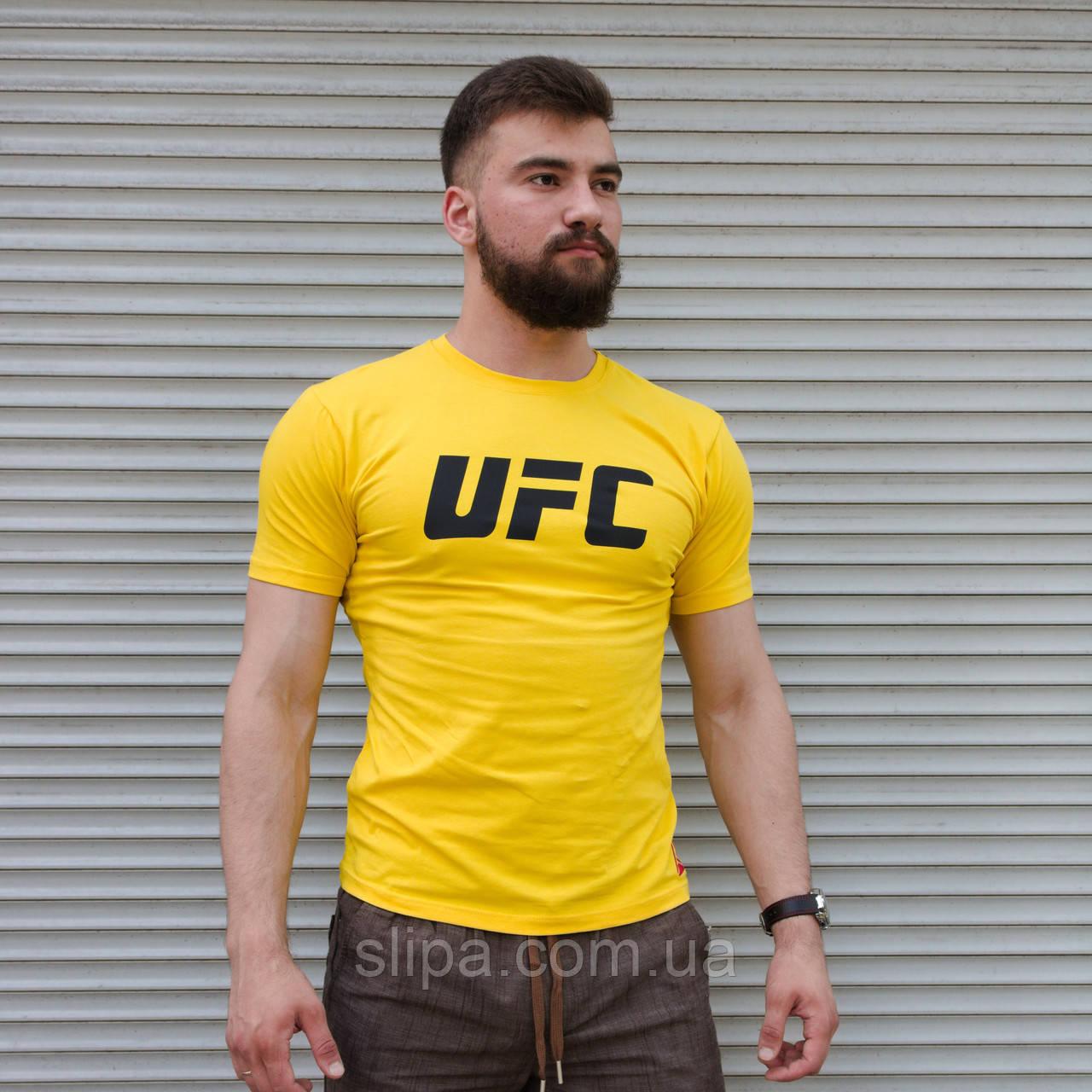 Чоловіча футболка Reebok ufc жовта Туреччина