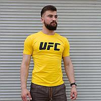 Мужская футболка Reebok UFC жёлтая Турция