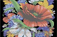 """Схема дял частичной вышивки бисером """"Букет цветов"""""""