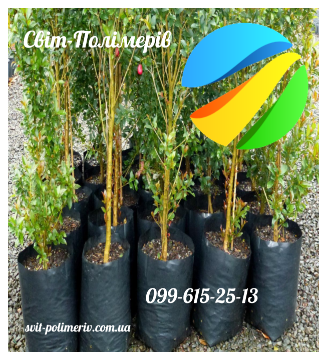 Пакеты для Саженцев Деревьев Дренаж Черный 400*550*120 мкм