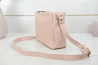 Сумка жіноча, Шкіряна сумочка Надія, Шкіра Флотар, колір Пудра, фото 3