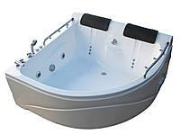 Гидромассажная ванна на двоих SunLight 007 сатин 150х150х68 см Белый