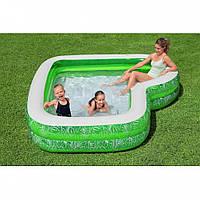 Надувной семейный бассейн Bestway 54336 (231х231x51 см, объём 282 л)