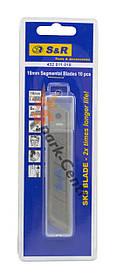Комплект лезвий усиленный SK5 Carbon Steel для ножей 18 мм S&R упаковка 10 шт (Германия)