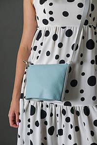 """Сумка жіноча. Шкіряна сумочка """"Елліс"""", Шкіра Флотар, колір Світло-бірюзовий"""