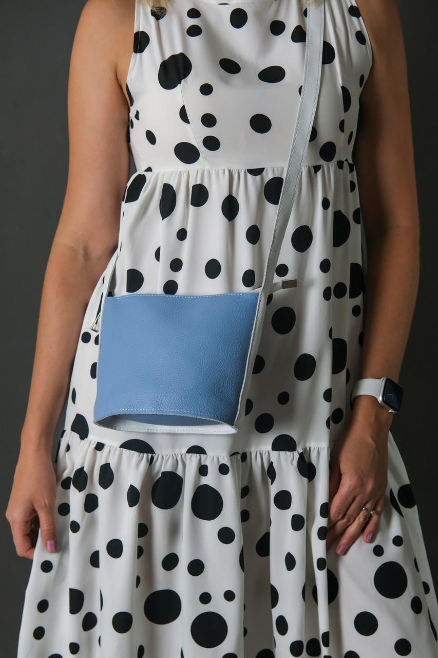 """Сумка женская. Кожаная сумочка """"Эллис"""", Кожа Флотар, цвет Синий"""